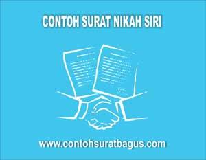 Contoh Surat Nikah Sirih Yang Baik dan Benar