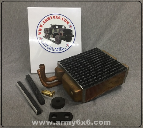 army 6x6 parts includes new heater core correct inlet and outlet orientation new drain valve and isolators 220 this kit fits m35a2 m35a3 m923a1 m923a2 m813