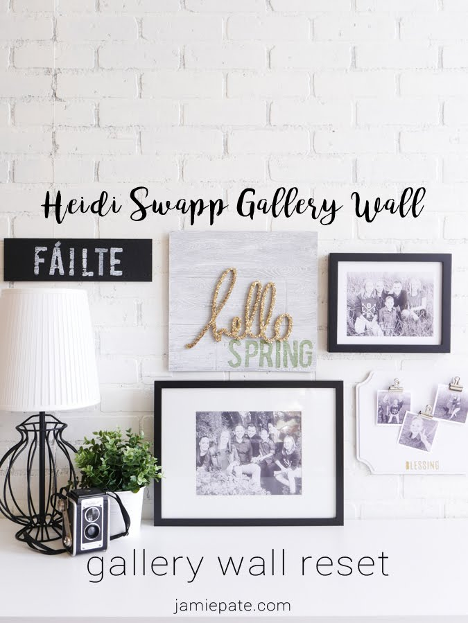 Heidi Swapp Gallery Wall Reset by Jamie Pate | @jamiepate for @heidiswapp