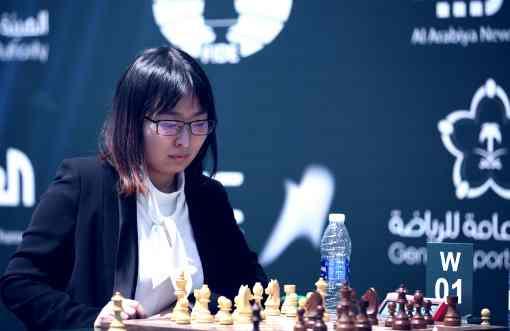 La Chinoise Ju Wenjun est championne du Monde 2017 d'échecs Rapide à Riyad - Photo © site officiel