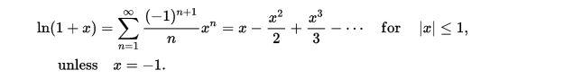 logarithmic series