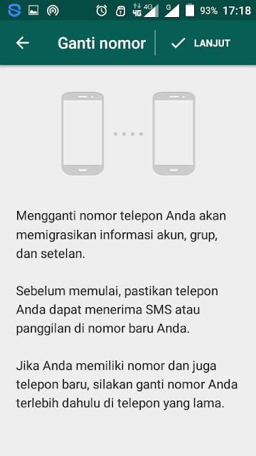 Cara Mengganti Akun WhatsApp Dengan No Baru Tanpa Hapus Akun