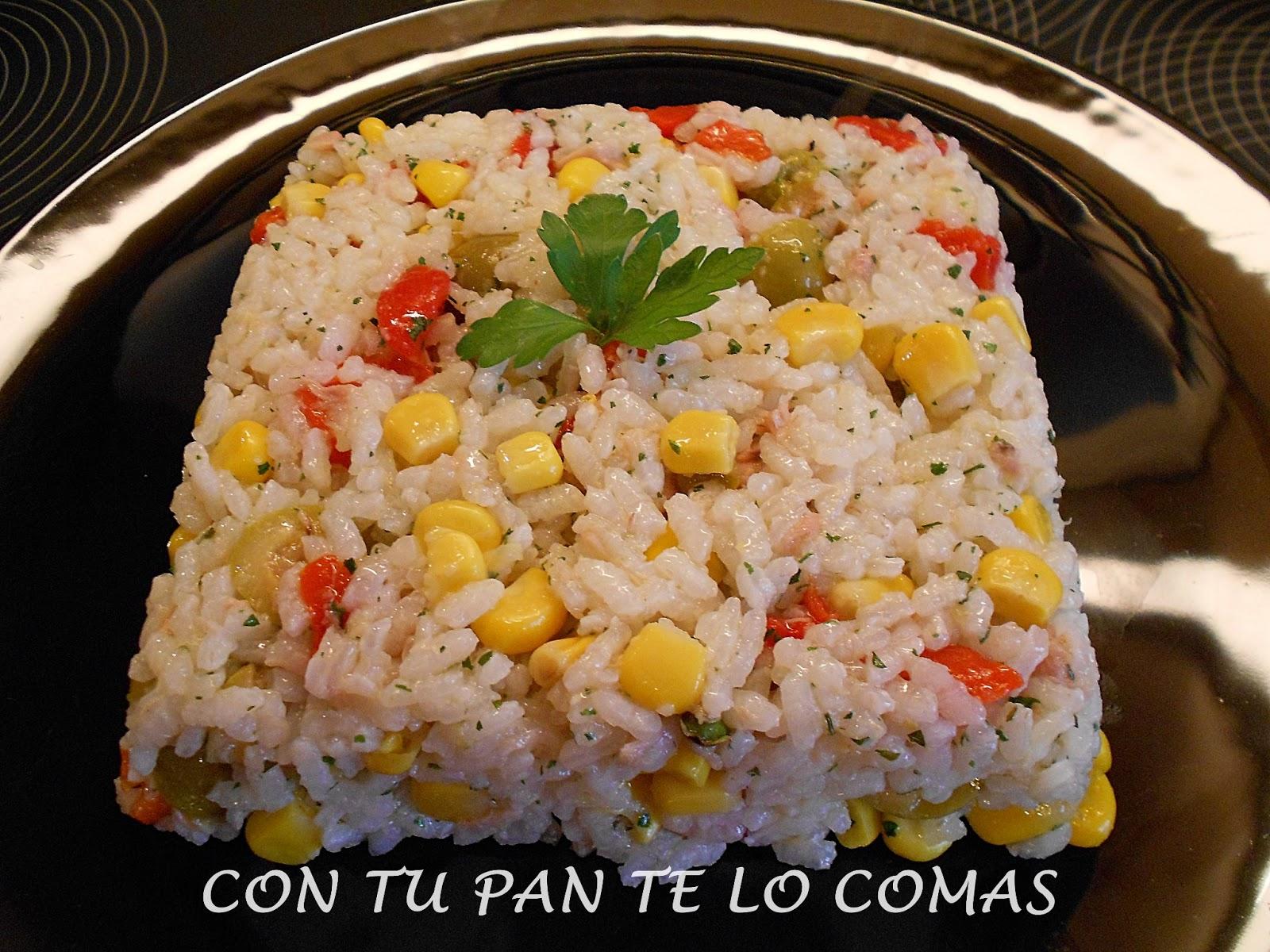 Con tu pan te lo comas ensalada de arroz - Ensalada de arroz light ...
