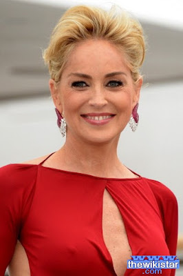 Sharon Stone, American actress and film producer and former model.