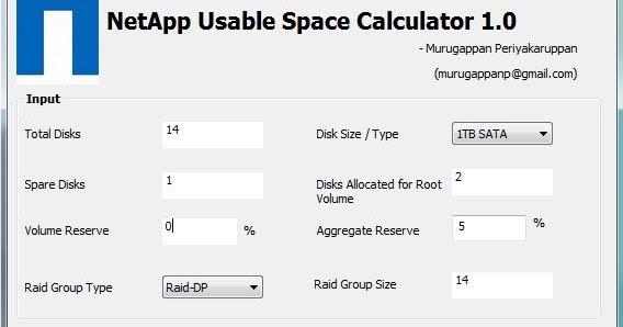 Practical NetApp: NetApp Usable Space Calculator