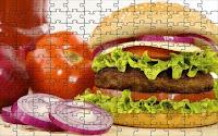A real hamburger