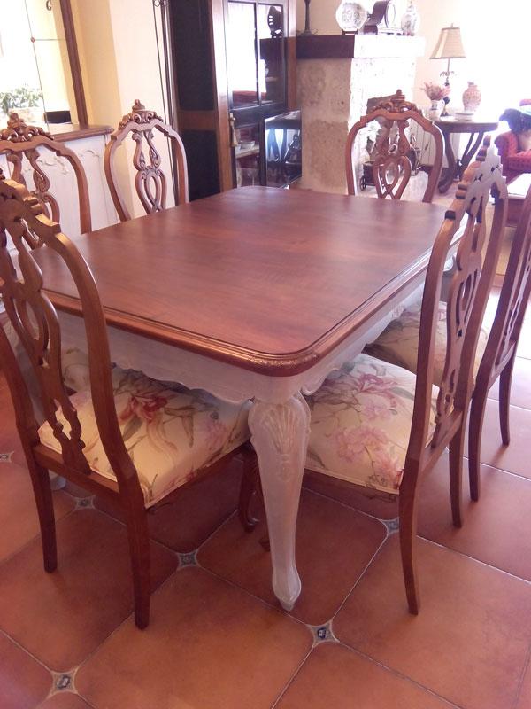 Restauracin integral de comedor antiguo  Muebles Cansado
