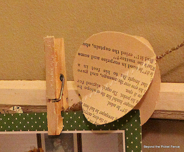Christmas card holder repurposed window http://bec4-beyondthepicketfence.blogspot.com/2012/11/12-days-of-christmas-day-3.html