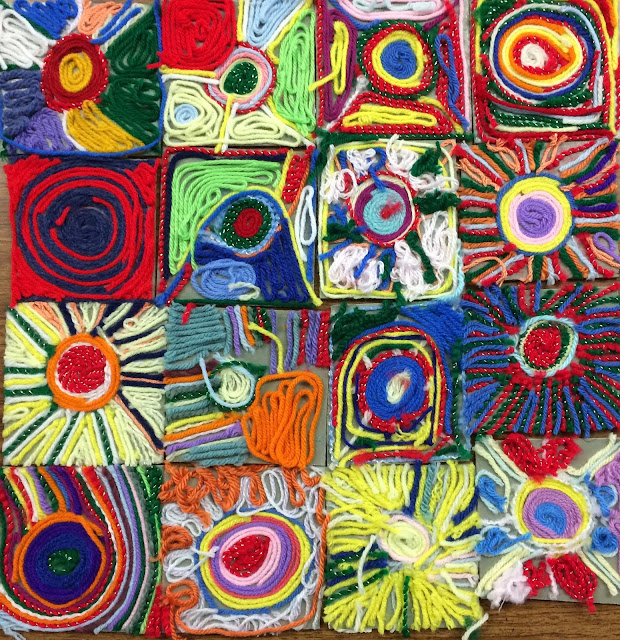 Kathy's Art Project Ideas: Mexican Sun Huichol Yarn ...