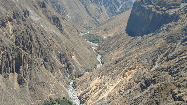 river in the Colca Canyon gorge