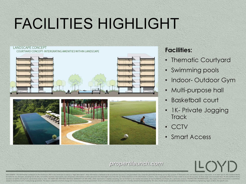 Facilities Highlight Lloyd Alam Sutera