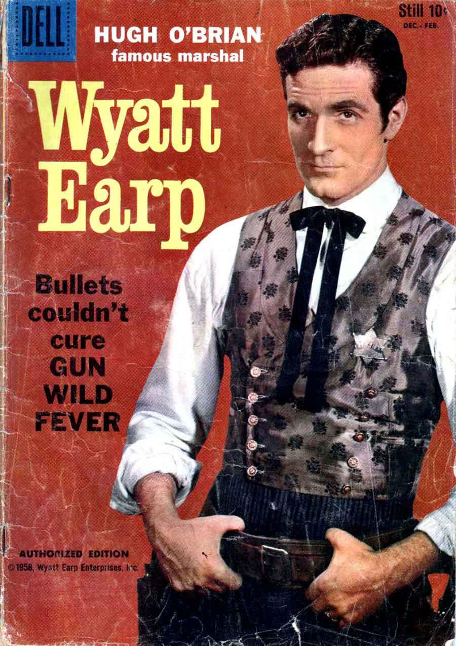 Wyatt Earp v2 #5 golden age 1950s dell western comic book cover