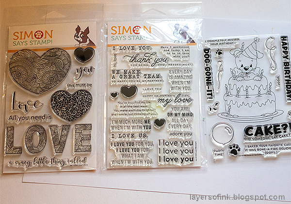 Layers of ink - Simon Says Stamp You are Loved Collection.