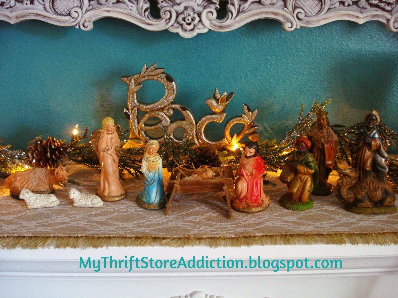 Vintage family heirloom nativity