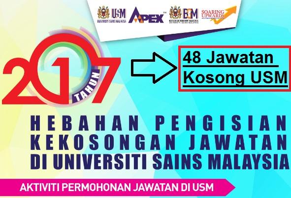 48 Jawatan Kosong Universiti Sains Malaysia (USM)