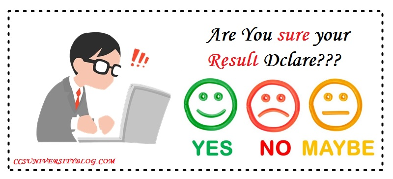 CCS University Result status 2018-2019  [In Three steps only]