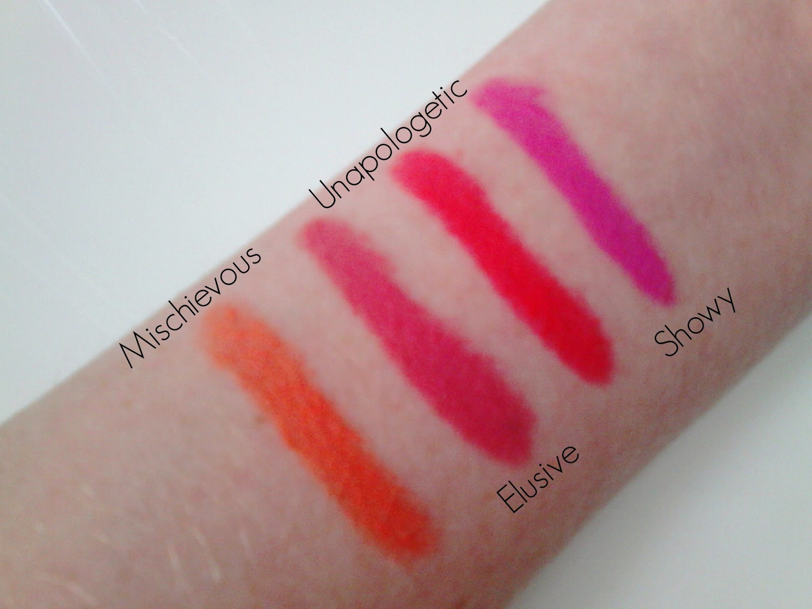 Revlon Colorburst Matte Balm Swatches