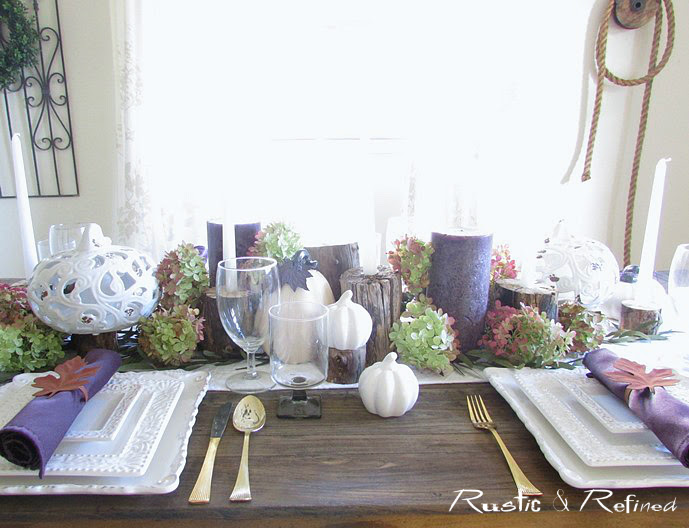 Simple and Elegant Fall Tablescape