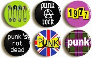 Punk button badges
