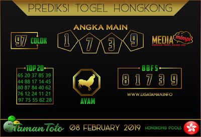 Prediksi Togel HONGKONG TAMAN TOTO 08 FEBRUARI 2019