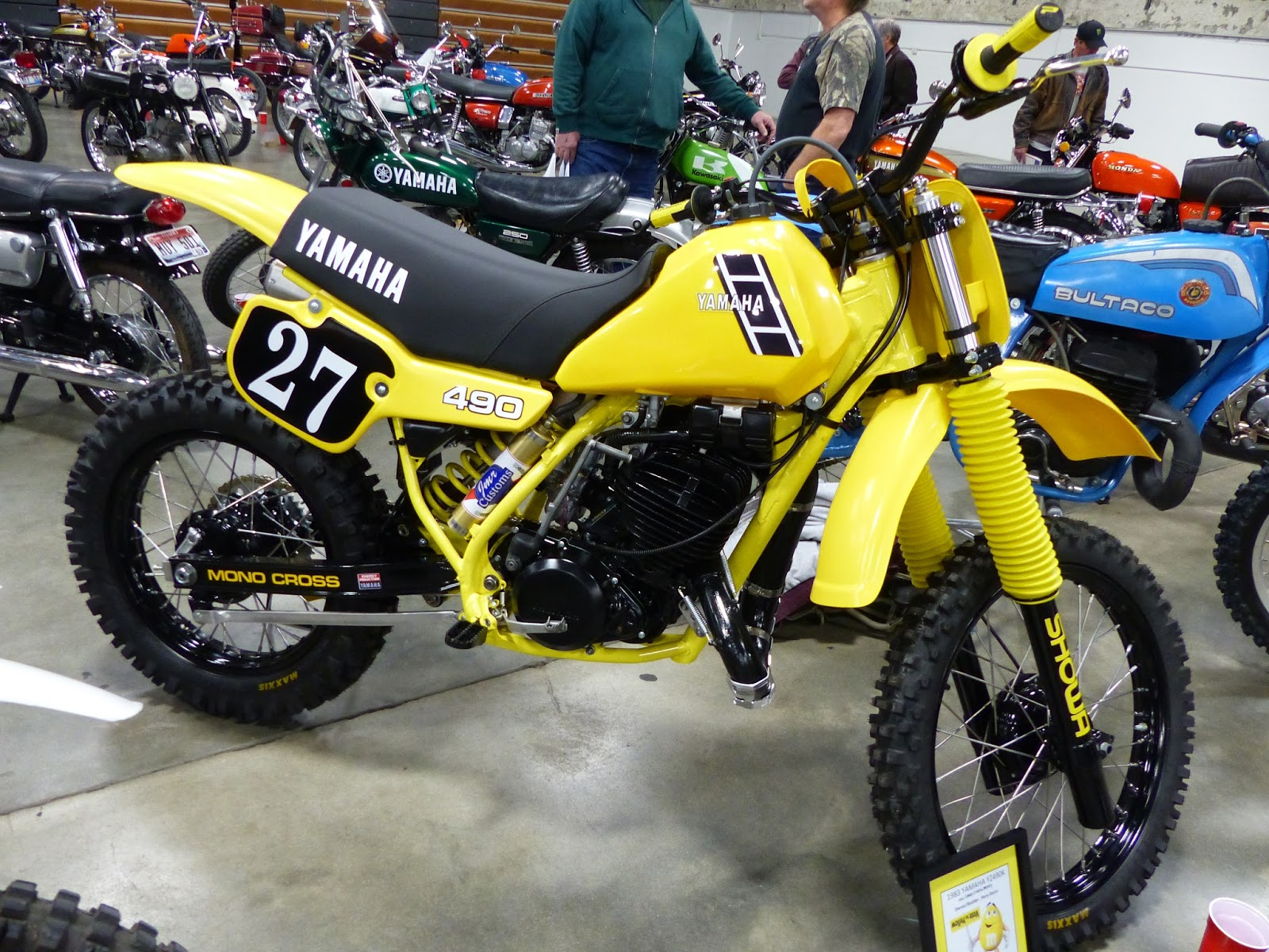 Oldmotodude 1983 Yamaha Yz490 On Display At The 2016