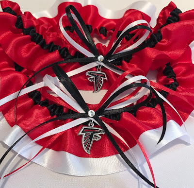 Atlanta Falcons Wedding Garter Set by Sugarplum Garters