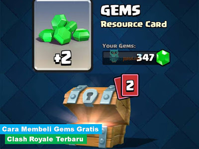 Cara Membeli Gems Gratis Clash Royal Terbaru