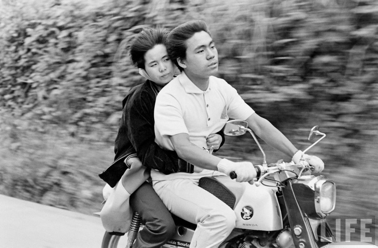 Motorcycle Kids Vintage Photographs Capture The Japanese