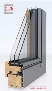 Дерево-алюминиевые окна UNILUX из Германии