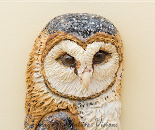 Barn Owl sculpture wall hanging