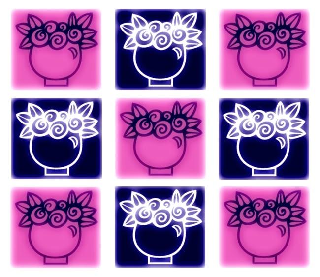 Inchie Grafik rosa-blau