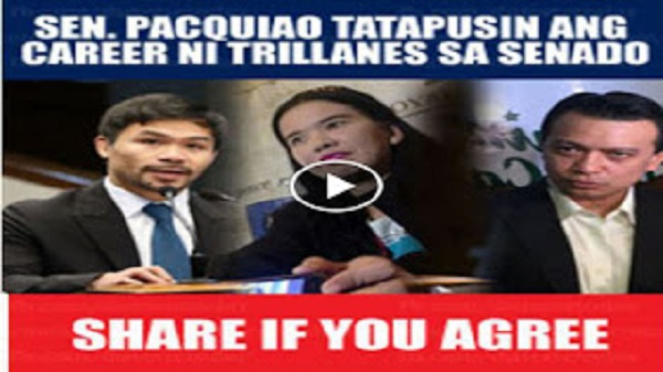 Watch: Sen. Pacquiao tatapusin ang Career ni Trillanes sa Senado