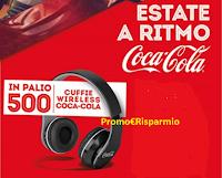 Logo Con Coca-Cola vinci 500 Cuffie Wireless