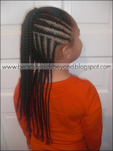 Getting Creative With Basic Cornrows