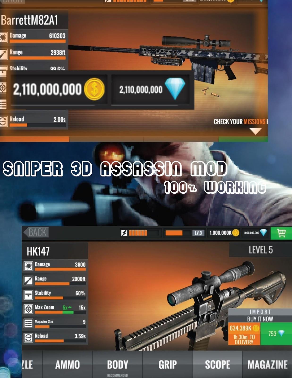 Download Sniper 3d Assassin Mod Apk : download, sniper, assassin, Download, Sniper, Assassin, 2.14.5, (Unlimited, Money/Cash)