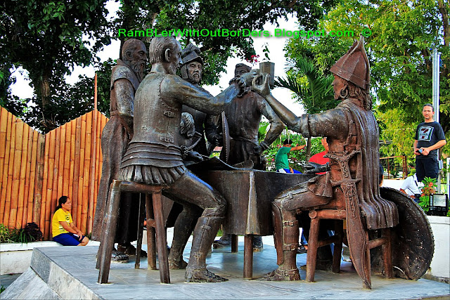 Sandugo Blood Compact Sculpture, Bohol, Philippines