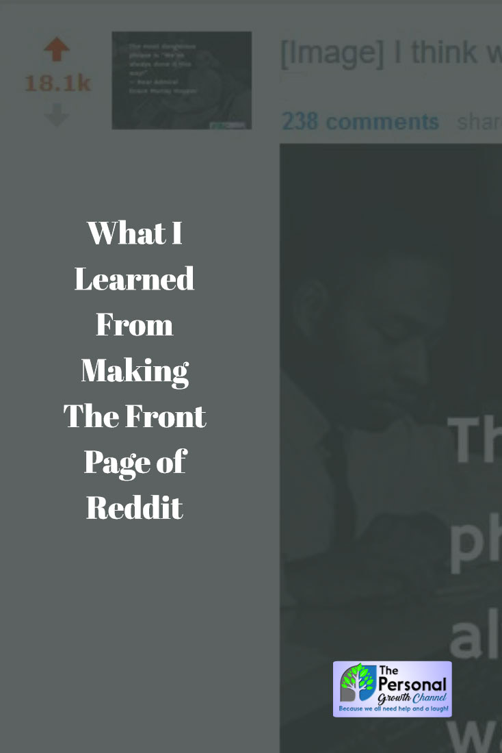 What I Learned From Making The Front Page of Reddit