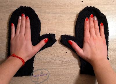wykrój rękawiczki diy