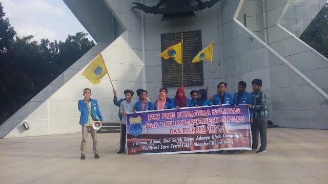 PKC PMII Sumatera Selatan Gelar Deklarasi Pemilu Damai di Monpera