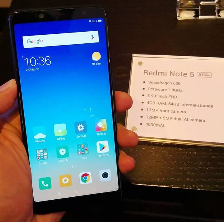 Xiaomi Redmi Note 5 Arrives in PH for Php11,990; Boasts Snapdragon 636, 4GB RAM, Dual Rear Cameras, 4000mAh Battery