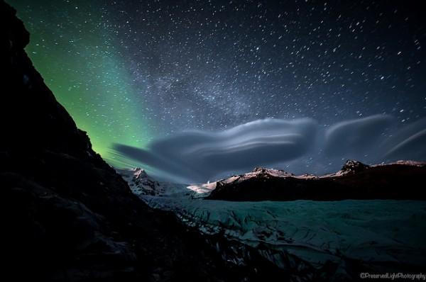 Svinafellsjokull Glacier by Preserved Light