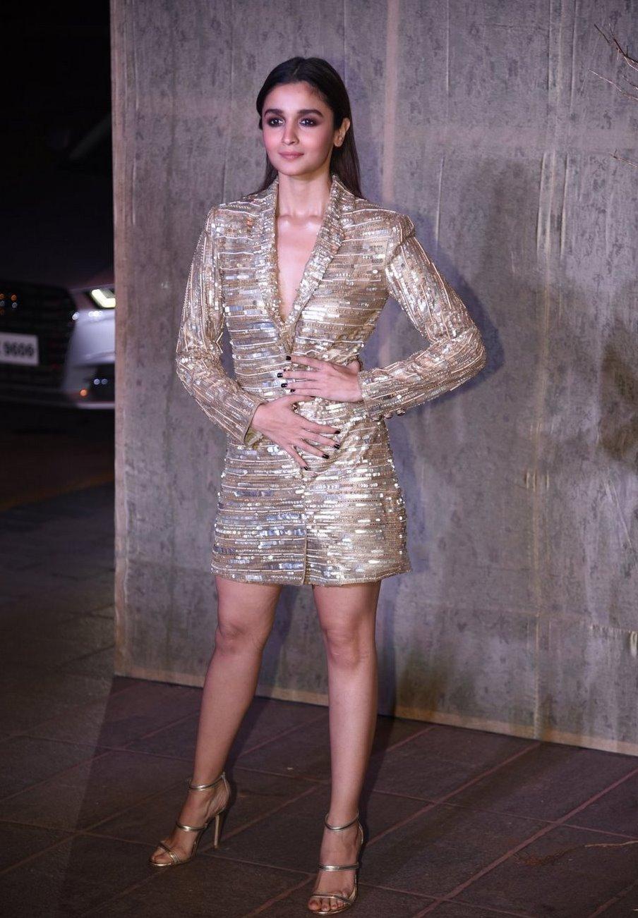 Actress Alia Bhatt Long Legs Photos at Birthday Bash