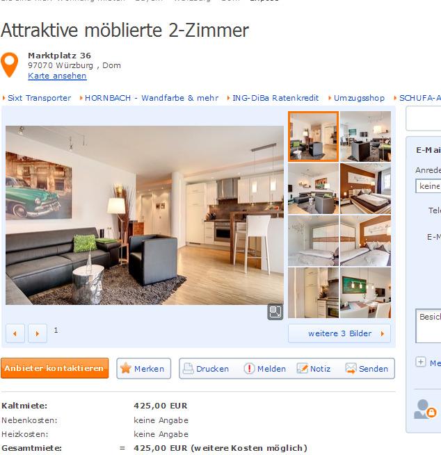 Wohnungsbetrug.blogspot.com: Schöne Möblierte 2-Zimmer