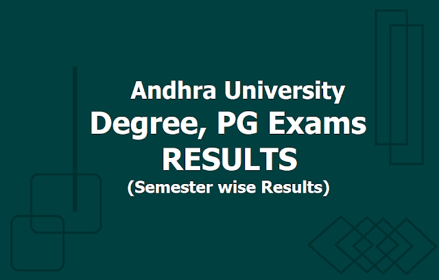 Andhra University Degree, PG Exams Results 2019 (Semester wise Results for AU PG, UG Exams)