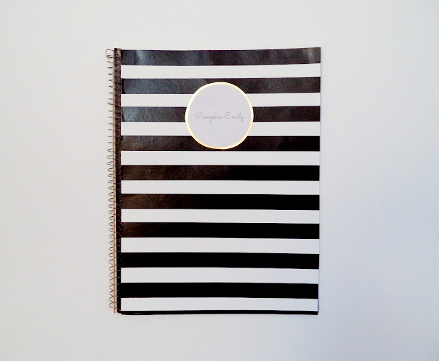 DIY Washi Tape Striped Notebook Cover