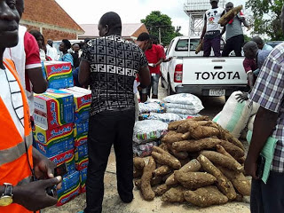 Relief materials for Makurdi flood victims