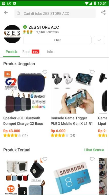 Profile Toko Aksesoris Handphone Zes Store ACC di Tokopedia.