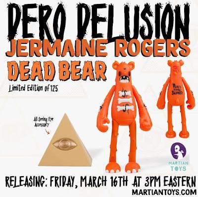 Dero Delusion Dead Bear Vinyl Figure by Jermaine Rogers x Nicky Davis x Martian Toys