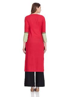 Red Multicolor W Kurta by FashionDiya