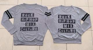 Jual Online Sweater Rock Hip Hop Grey Couple Murah Jakarta Bahan Babytery Terbaru